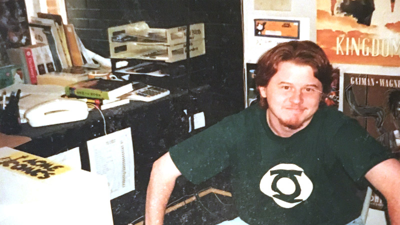 That's me, 18 years old working at the second Acme location, circa 1995. Photo © Jermaine Exum.